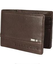 Cartera de piel Billabong Exchange Slim Wallet Chocolate U5LW01