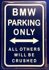 BMW Parking Metal Sign / Vintage Garage Wall Decor (30 x 20cm)
