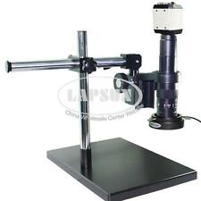 2MP VGA USB TV AV Lab Industry Microscope Camera 180X C-mount Lens Metal Stand