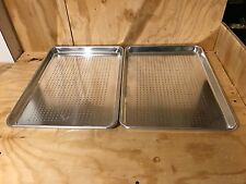 2 pcs half size  Stainless Steel Perforated Sheet Pan