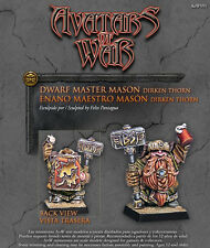 Avatars of War BNIB Dwarf Master Mason AOW91