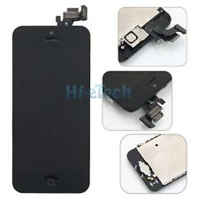 Black LCD Touch Digitizer Glass Screen Assembly for iPhone 5 Home Button Camera