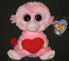 TY BEANIE BOOS - JULEP THE MONKEY - MINT with NEAR PERFECT TAG & EYES