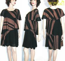 MISSONI Orange Label 40 black TIERED Lace Knit AMELIA dress NWT $1.3K Authentic!