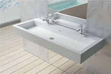 Wall Hung Solid Surface Stone Resin Glossy Bathroom Sink 47 x 19- DW-136