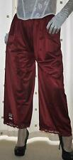 Burgundy vintage style silky nylon pantie slip~pettipant~culottes~bloomers 16~18