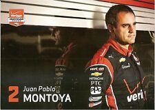 2015 JUAN PABLO MONTOYA VERIZON INDIANAPOLIS 500 PHOTO CARD POSTCARD INDY CAR