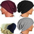 Trendy! Chic Men Knitting Slouchy Beanie Cap Baggy Winter Hat Oversize Unise Hot