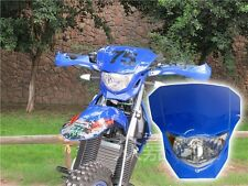 35W Blue Off Road Dirt Bike Enduro MX Supermoto Headlight Yamaha YZ TTR WR XT