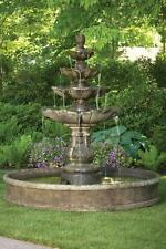 """79"""" CLASSIC FOUR TIER FOUNTAIN with 6ft pool - concrete garden fountain"""