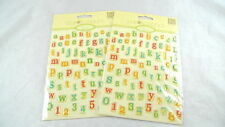 2 Packages TIM COFFEY Gel Letter Stickers Lettering Scrapbooks Cards Crafts