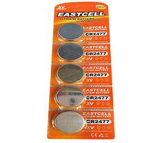 5 x CR2477 3V Lithium Batterie 900 mAh ( 1 Blistercard a 5 Batterien )  EASTCELL
