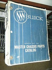 1969 Buick Master Chassis Parts Catalog Skylark riviera wildcat electra gs