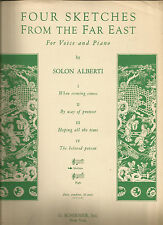 Four Sketches From the Far East Solon Alberti Sheet Music 1938