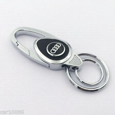 New style Metal alloy leather car logo key chain Key ring for Audi FREE SHIPPING