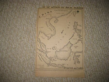 ANTIQUE 1904 RUSSO JAPAN WAR MAP CHINA SEA JAPAN FORMOSA TAIWAN PORT OF KEELUNG