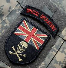 KANDAHAR WHACKER© NATO ISAF SAS VELCRO SSI: UK Calico Jack Jolly Roger + SP OPS