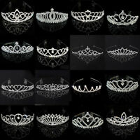 Wedding Bridal Child Kids Women Rhinestone Pageant Birthday Tiara Crown Headband