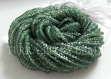 "13"" strand green APATITE faceted rondelle gem stone beads 2.5mm - 3mm"