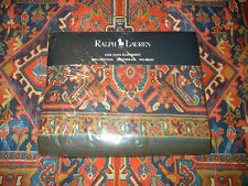 Rare Ralph Lauren Oxfordshire Twin Flat Southwest Abstract Blue Rust Gold