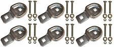 """6 - 3/8"""" Stainless Steel D Ring Rope Chain Tie Downs Kit with SS Bolts Trailer"""