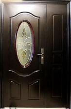 A56, Wohnungstür,Haustür,Sicherheitstür,Stahltür,Türen,L Außen 1300x2050mm Braun
