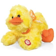 QUACKING DUCK - SOFT TOY PLUSH BATTERY OPERATED CUDDLE DOLL WITH BOY QUACKS