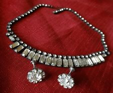 Vintage WEISS Crystal Rhinestone Choker Necklace Signed