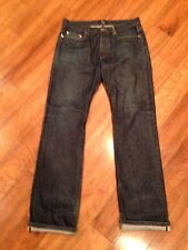 APC Denim Jeans RESCUE Droit Selvedge Cotton Button Fly Sz 34 X 36