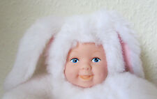 FAB CUTE ADORABLE *ANNE GEDDES* BEANIE PLUSH SOFT TOY BABY WHITE BUNNY RABBIT