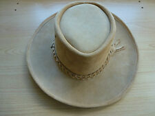 Australian Hat Company Outback Leather Hat Hats Crocodile Dundee style Australia