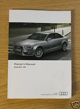 AUDI A4 S4 SALOON, AVANT AND ALLROAD HANDBOOK OWNERS MANUAL 2011-2015 MAIN BOOK