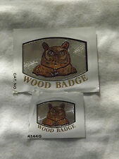 VINTAGE BSA BOY SCOUTS OF AMERICA  2 OWL WOOD BADGE DECALS