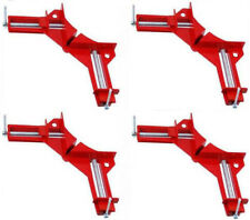 "HAWK TZ7100- 4-PAK 90 Degree Angle Corner Clamp 3"" Capacity Picture Frame Jig"