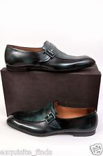 $940 BOTTEGA VENETA IVY CALF TEAL PATENT LEATHER  SHOES 44.5-11.5