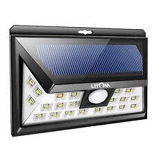 3WAY Solar Power LED Dusk-to-Dawn Waterproof Motion Sensor Security flood Light