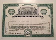 Mississippi River Corporation.Stock Certificate.