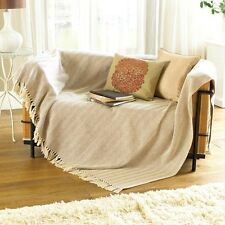 Country Club Como Throw 127 x 152cm, Natural Colour Home Sofa Throw Over