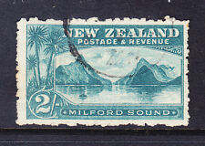 NEW ZEALAND 1903 SG316a 2/- blue-green perf 11 watermark 43 - fine used cat £45