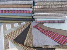 Scottish Tweed Remnants Offcuts Patchwork Rag Rug Crafts 10 Large Pieces