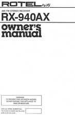 Rotel RX-940AX Receiver Owners Manual