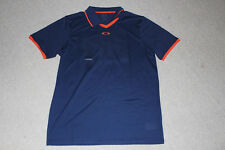 NEW! Oakley Mens FC Polo Blue Depths Rory McIlroy 432537-67S Size M