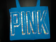 Victoria's Secret PINK Shopper / Tote / School Bag *New w/o tags* Blue & Silver