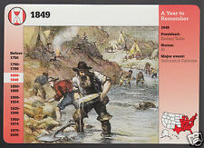 1849 Forty-Niners Searching for Gold in California GROLIER STORY OF AMERICA CARD