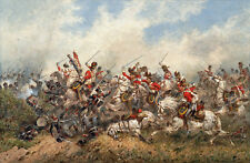 Royal Scots Greys at Waterloo  by Orlando Norie     Giclee Canvas Print Repro