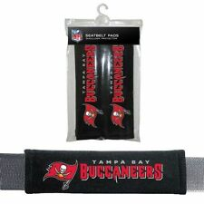 TAMPA BAY BUCCANEERS 2 VELOUR SEAT BELT LAPTOP BAG SHOULDER PADS NFL FOOTBALL