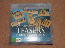 Classic Games -  SOLID WOOD TEASERS 7 Different Brain Busters by Cardinal