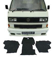 VW T25 Transporter Carpet Set Mats Cab Rubber Backed Mats Camper Van 3 Piece