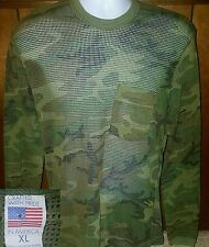 VTG 80'S MESH CAMOUFLAGE LONG SLEEVE T-SHIRT XL MADE IN USA