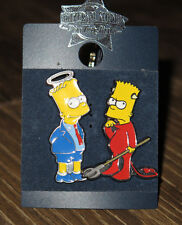 NEW Universal Studios Pin Trading - Bart Simpson - Good & Evil Angel Devil Halo